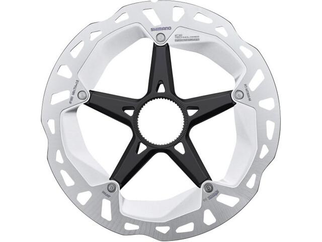 Shimano RT-MT800 Remschijf Center-Lock, silver/black